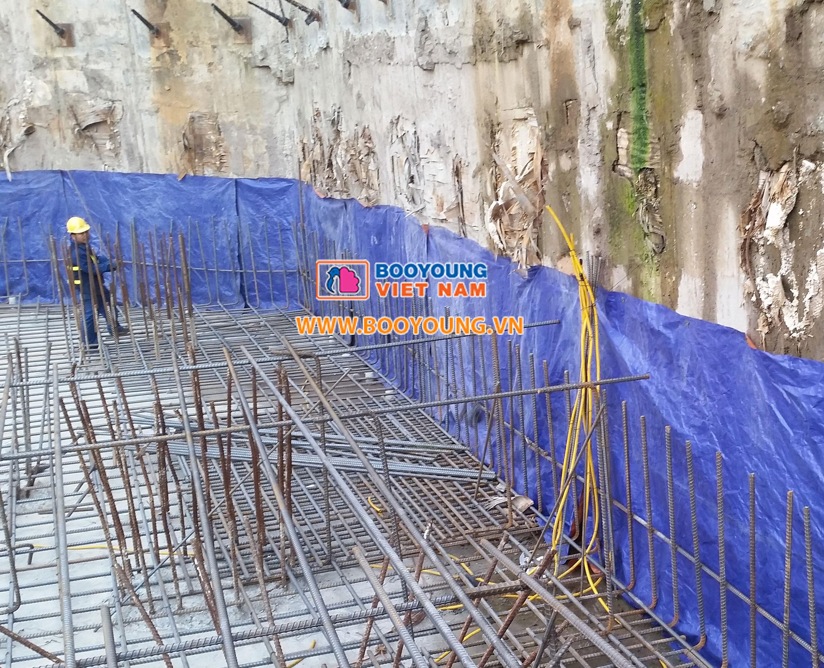Hình ảnh thực tế thi công phần điện tầng hầm tòa CT7