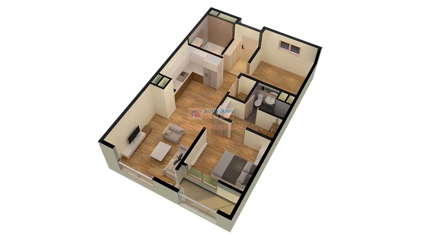 Căn hộ loại A 73,22 m2