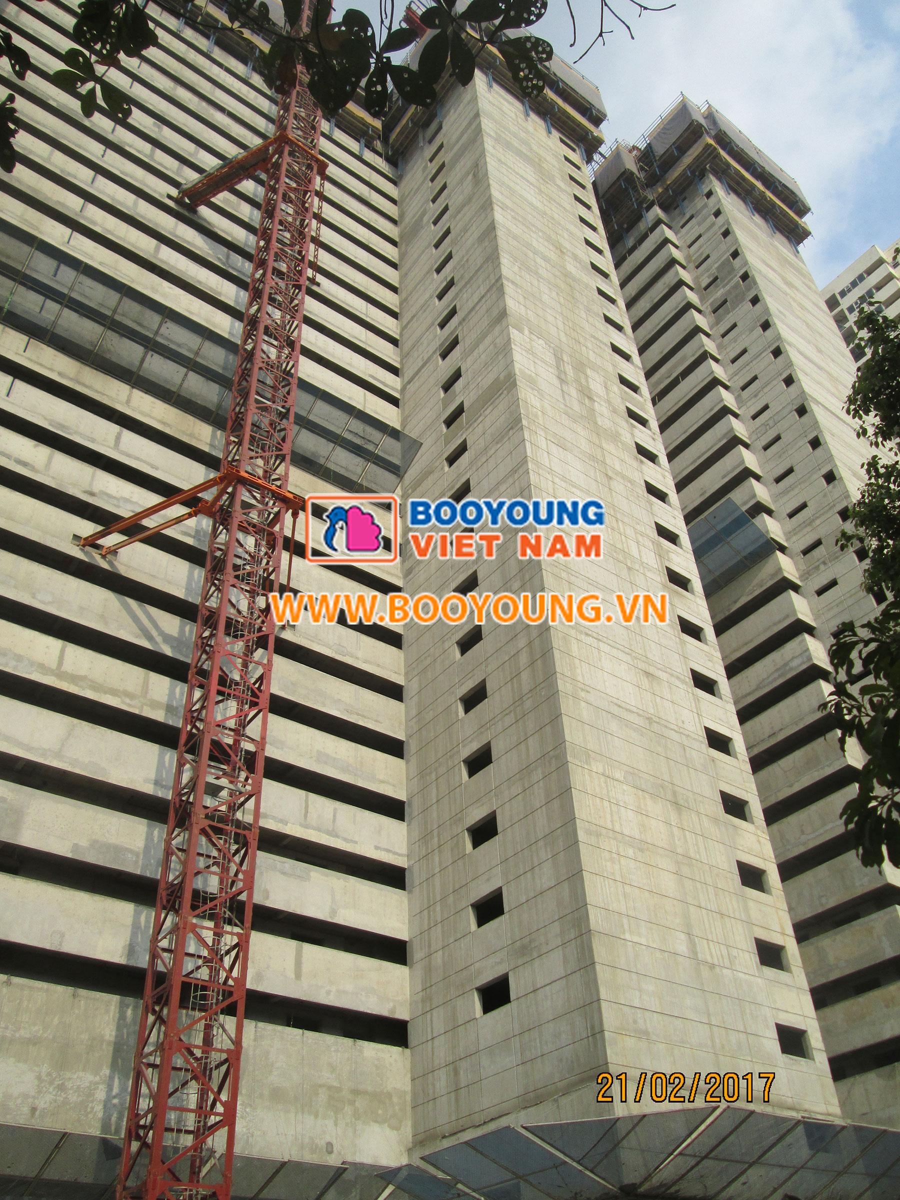 Phía sau tòa CT7 Booyoung Mỗ Lao