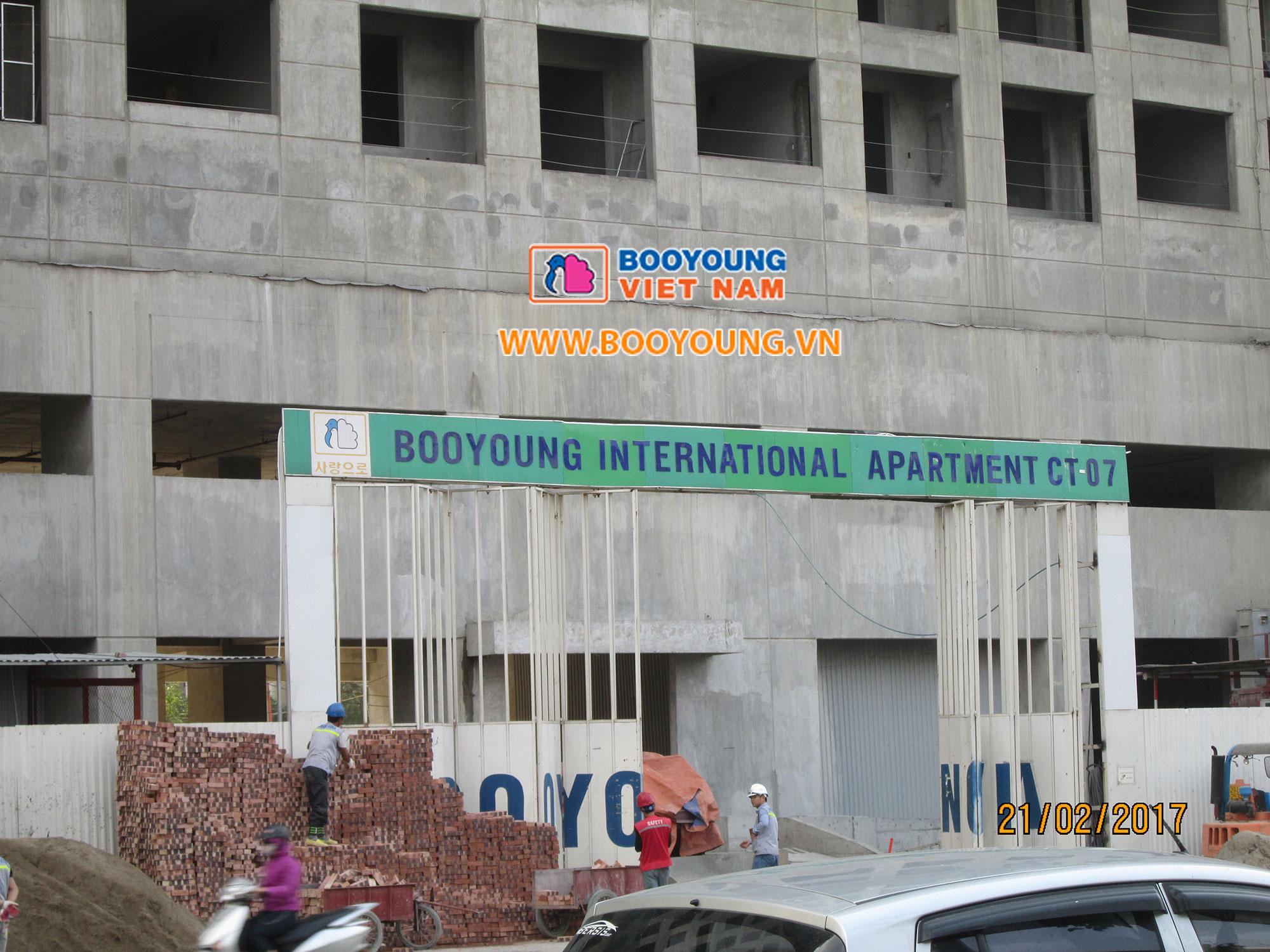 Cổng công trường dự án mặt đường Mỗ Lao, Hà Đông