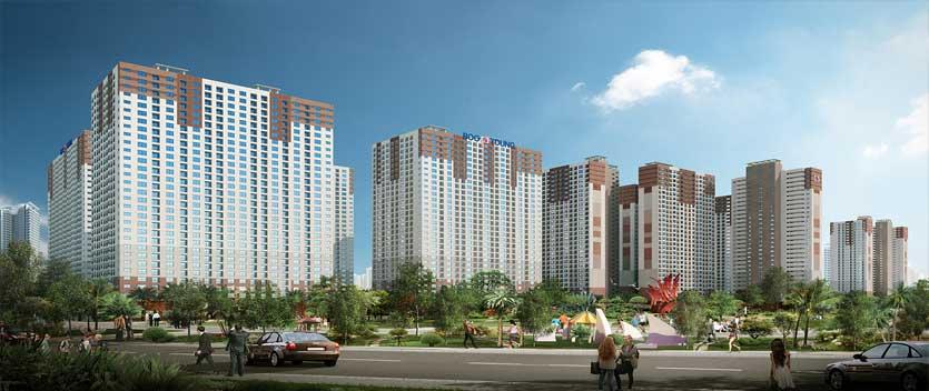 Booyoung Vina là tổ hợp chung cư bao gồm 6 tòa nhà 30 tầng với hơn 3000 căn hộ ở trung tâm Hà Đông