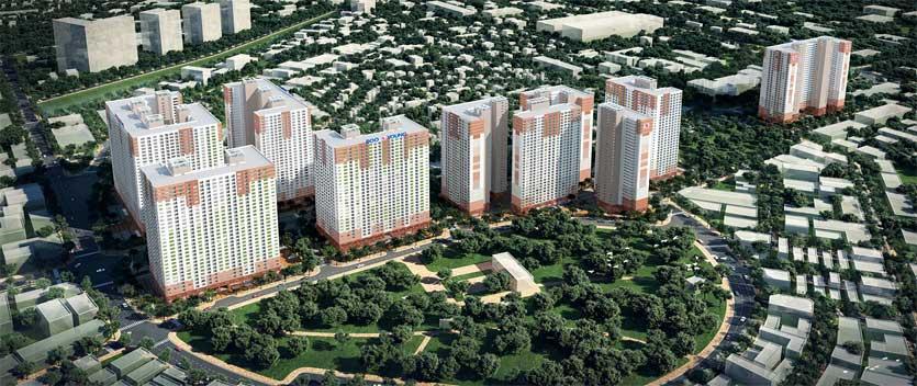 Phối cảnh tổ hợp căn hộ Booyoung tại Mỗ Lao, Hà Đông, Hà Nội do Booyoung Vina làm chủ đầu tư
