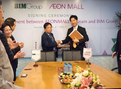 BIM Group và Aeon Mall Việt Nam ký thỏa thuận hợp tác.