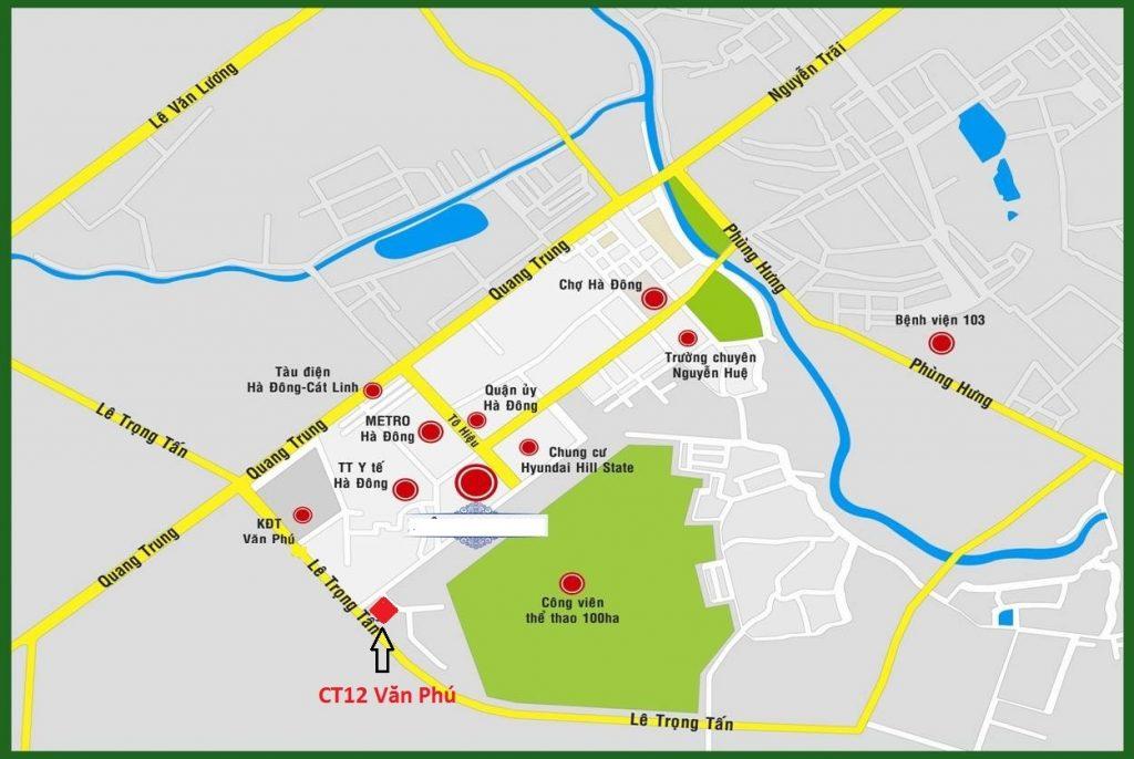 Vị trí dự án Chung cư Hà Đông Park View