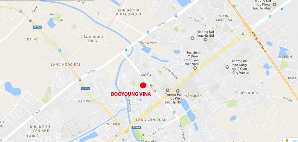 Vị trí chung cư Booyoung