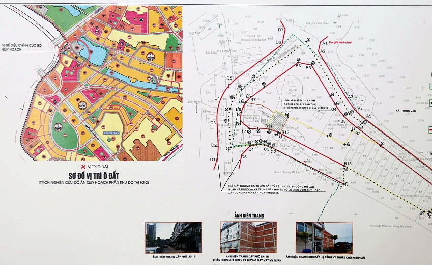 Bản đồ quy hoạch điều chỉnh KĐT Mỗ Lao