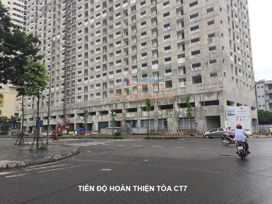 Tòa CT7 hứu hẹn sẽ rất sôi động, sau khi cư dân dọn về ở