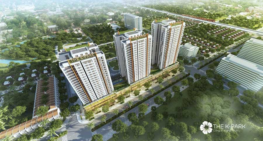Phối cảnh dự án The K Park - Văn Phú - Hà Đông