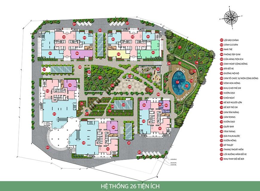 Khuôn viên rộng lớn của chung cư Iris Garden