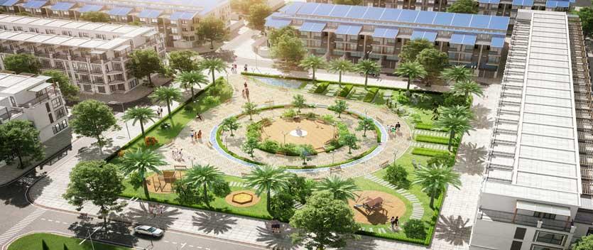 Vườn hoa thuộc tiểu khu Vĩnh Lộc