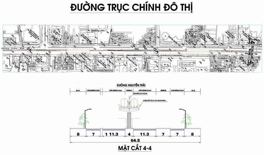 Ảnh Bản đồ quy hoạch tuyến đường cấp đô thị phường Mộ Lao