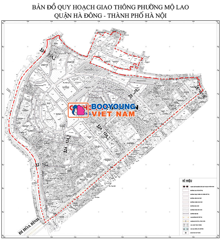 Ảnh Bản đồ quy hoạch giao thông phường Mộ Lao