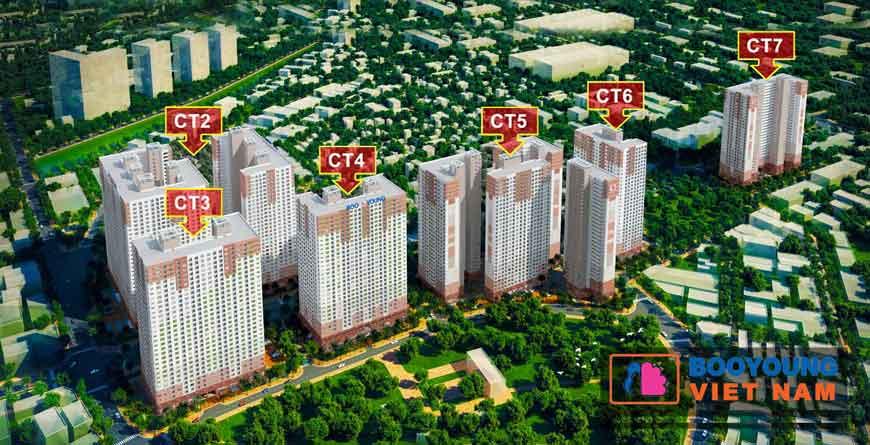 Phối cảnh quần thể căn hộ chung cư Booyoung
