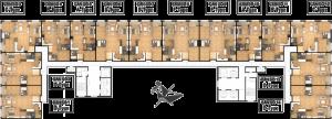 Mặt bằng thiết kế chung cư Booyoung - tòa nhà CT7