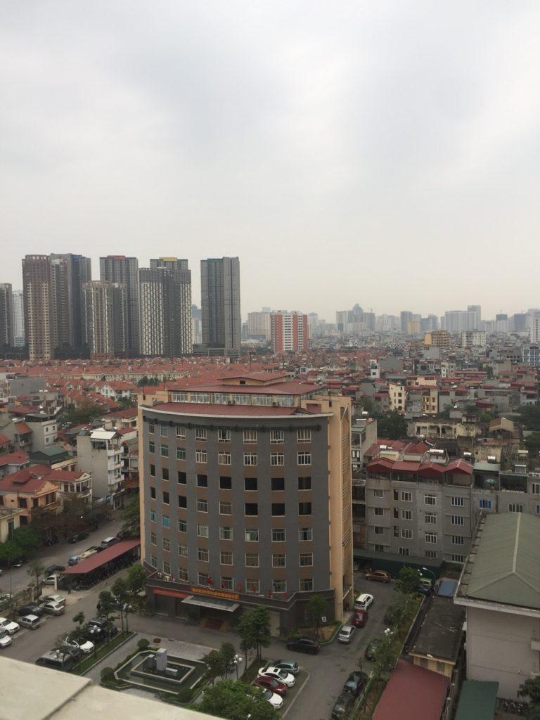 View hướng Đông Bắc từ Balcon và cửa sổ phòng khách căn hộ