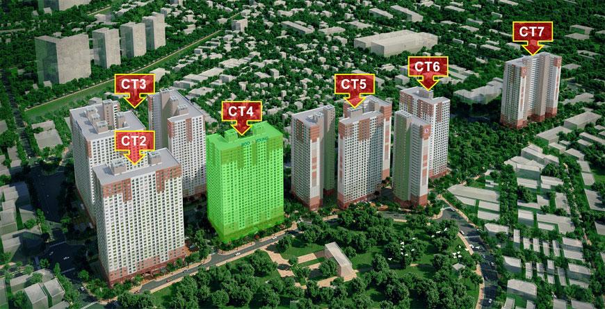 Vị trí tòa CT4 thuộc dự án chung cư Booyoung Mỗ Lao