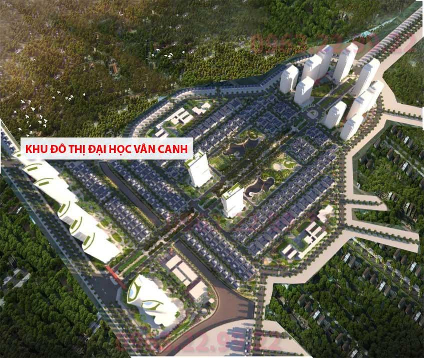 Phối cảnh dự án Đại học Vân Canh