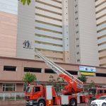 Diễn tập phòng chống cháy nổ tại Chung cư quốc tế Booyoung