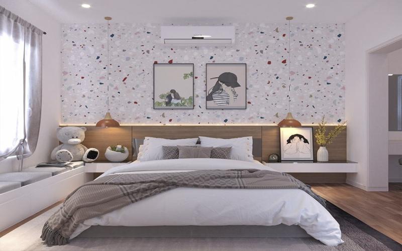 Mẹ nhỏ nới rộng phòng ngủ căn hộ chung cư Booyoung