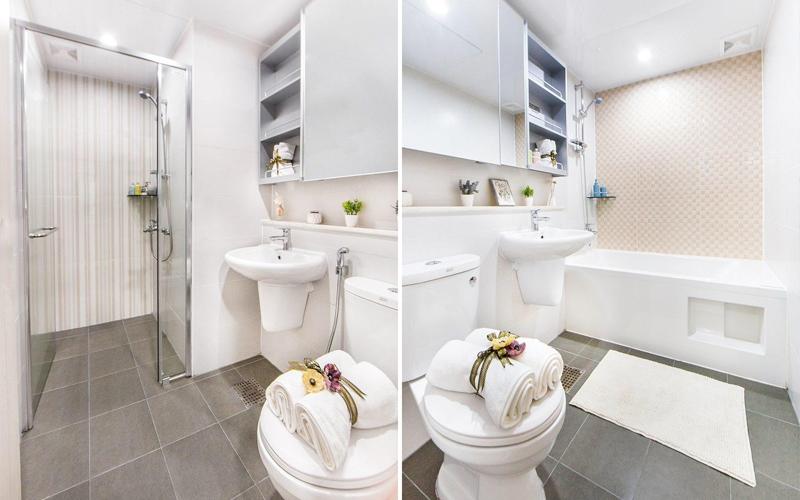 Phối cảnh nhà vệ sinh căn hộ 107m2 - chung cư Booyoung Vina